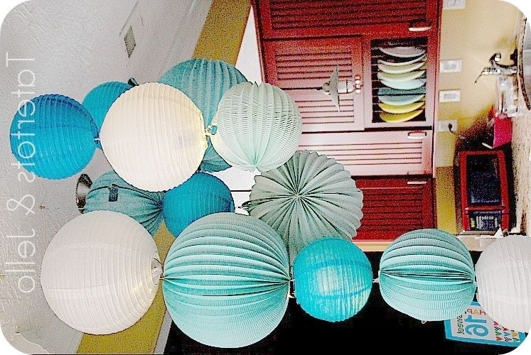 Paper Lantern Chandelier, Lantern (View 7 of 10)