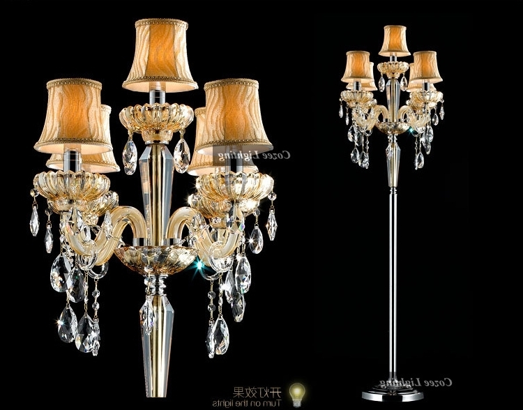 Picturesque Floor Standing Chandelier Lamp Ideas New At Dining Room For Well Known Free Standing Chandelier Lamps (View 10 of 10)