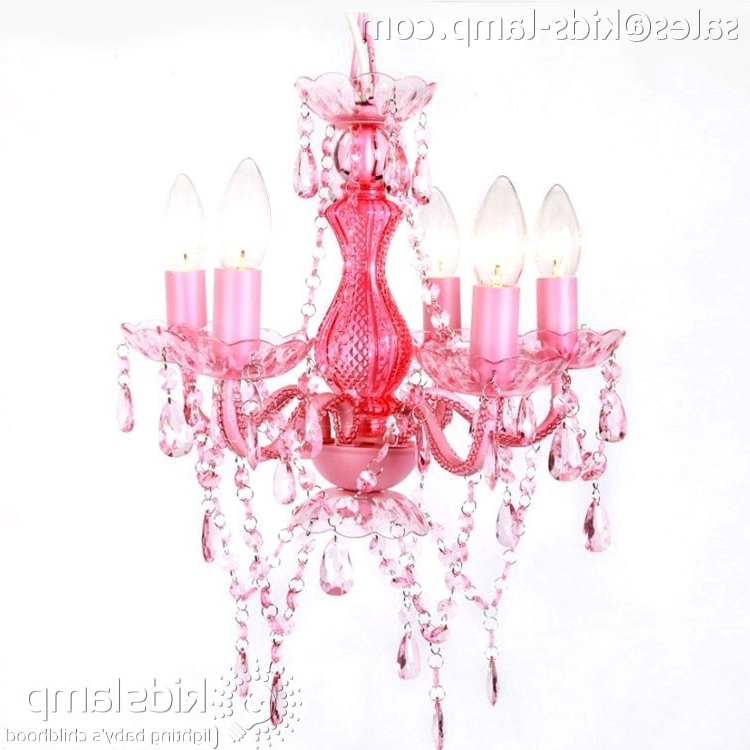 Featured Photo of Pink Plastic Chandeliers