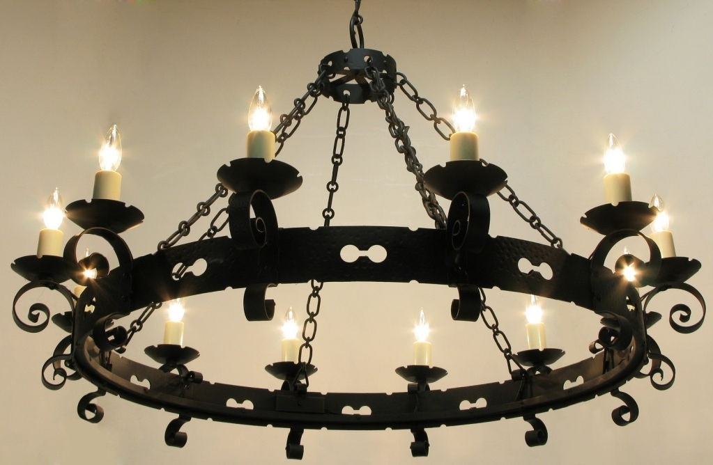 Popular Cast Iron Chandelier For Large Wrought Iron Chandeliers Lamp World Throughout Cast Chandelier (View 2 of 10)