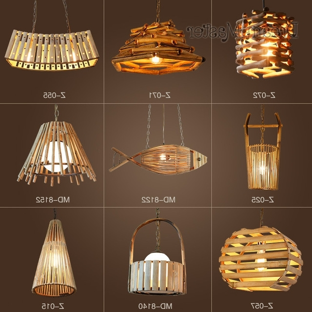 Popular Chinese Chandeliers Throughout Chinese Style Creative Personality Bamboo And Rattan Chandeliers (View 9 of 10)