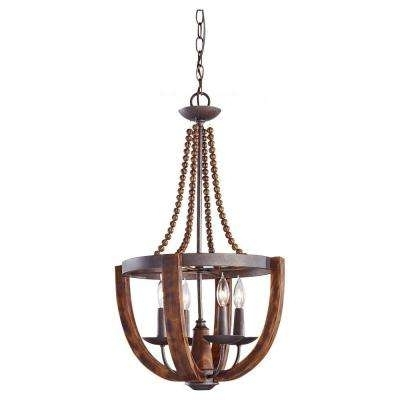 Popular Feiss – Copper – Chandeliers – Lighting – The Home Depot With Copper Chandeliers (View 9 of 10)