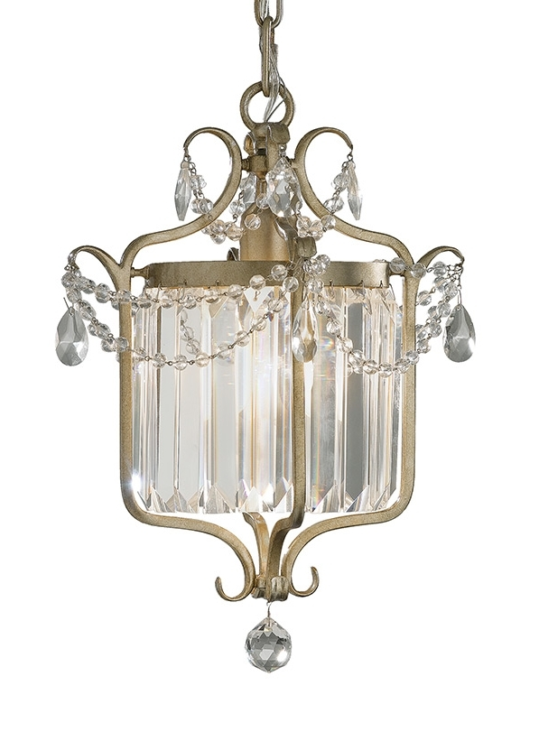 Popular Gianna Mini Chandeliers Throughout F2473/1gs,1 – Light Mini Duo Chandelier,gilded Silver (View 9 of 10)