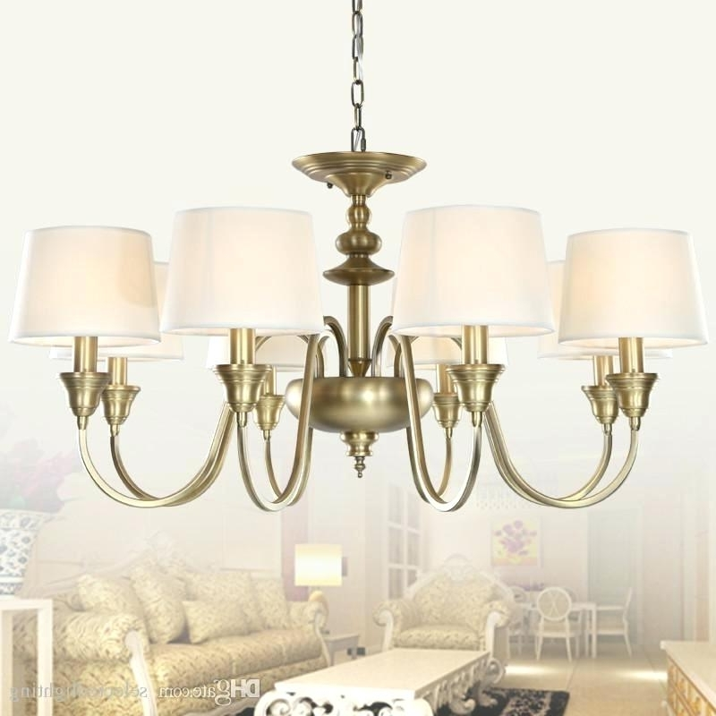 Popular Lampshades For Chandeliers With Regard To Lamp Shade Chandelier Mini Drum Lamp Shades For Chandeliers (View 7 of 10)