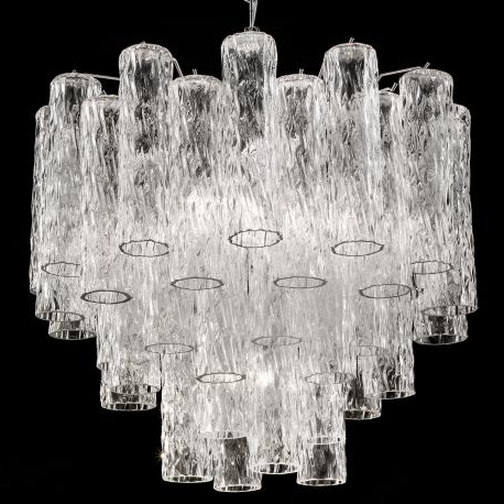"""Popular Large Glass Chandelier With Regard To Tronchi"""" Large Murano Glass Chandelier – Murano Glass Chandeliers (View 2 of 10)"""