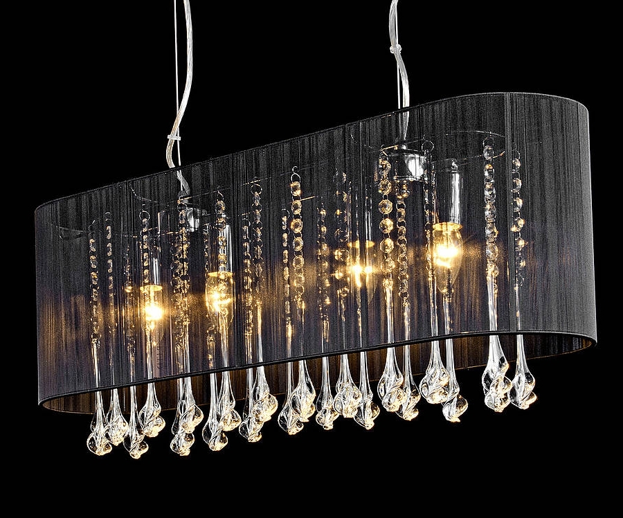 Popular Long Chandelier Light With Regard To Shaded Long Pendant Chandeliermade With Love Designs Ltd (View 2 of 10)