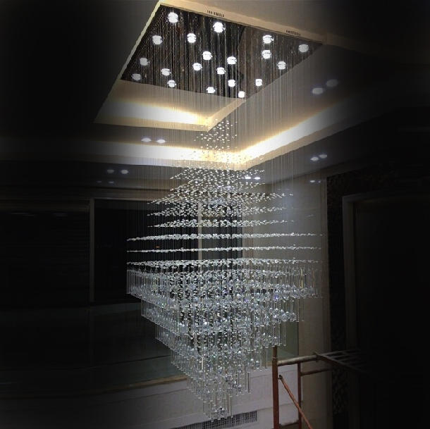 Popular Modern Large Chandeliers In 2017 New Luxury Crystal Chandelier Led Living Room Lamp Chandelier (View 8 of 10)