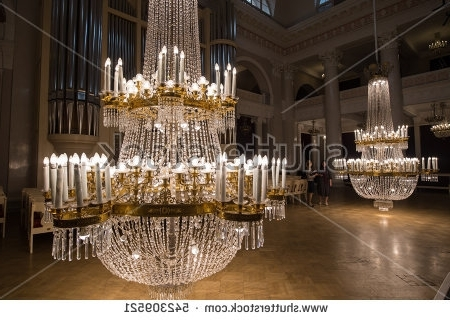 Popular Saintpetersburg Russia September 6 2016 Huge Stock Photo 542309521 Pertaining To Huge Crystal Chandelier (View 10 of 10)