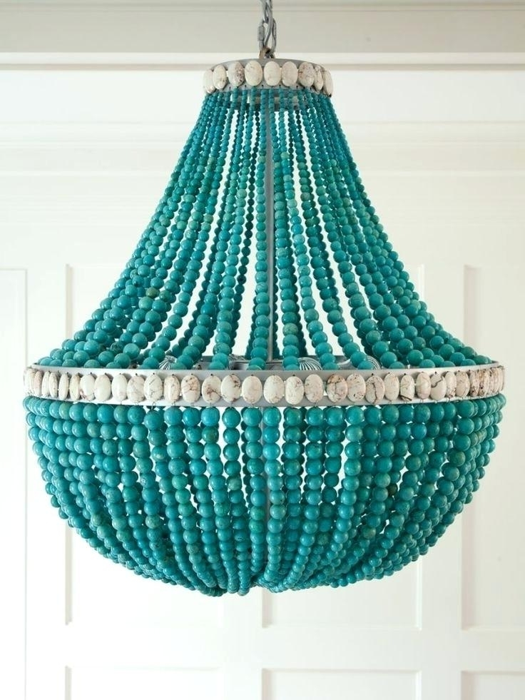 Popular Turquoise Beaded Chandelier Home Design Ideas Turquoise Beaded Intended For Small Turquoise Beaded Chandeliers (View 4 of 10)