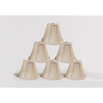 "Popular Urbanest Chandelier Lamp Shades, Set Of 6, Soft Bell 3""x 6""x 5 Pertaining To Chandelier Lamp Shades (View 8 of 10)"