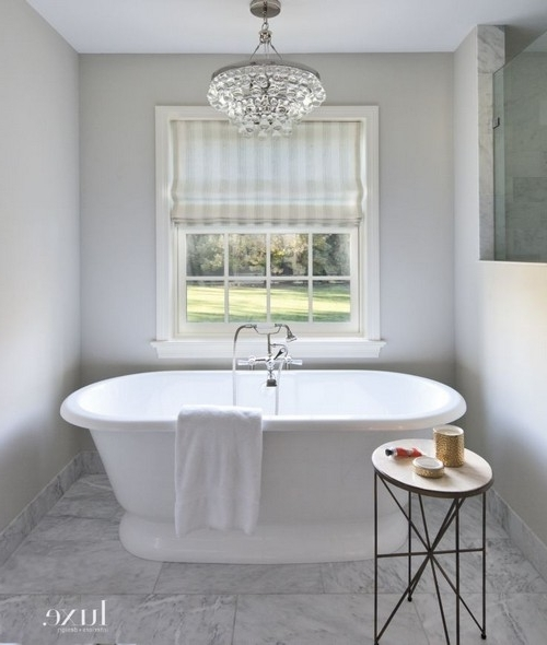 Preferred Bathroom Safe Chandeliers Pertaining To How To Choose The Best Bathroom Chandelier (Gallery 1 of 10)