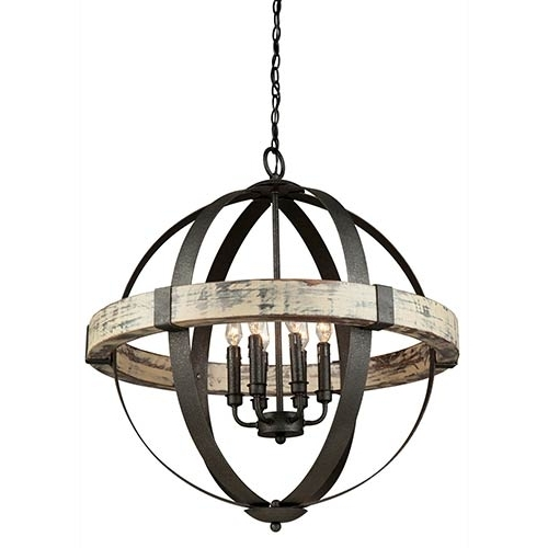 Preferred Black Chandelier With Artcraft Castello Black And Aspen Wood Six Light  (View 9 of 10)
