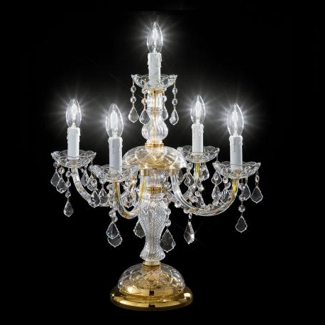 "Preferred Botticelli"" Venetian Crystal Table Lamp – Murano Glass Chandeliers Pertaining To Crystal Table Chandeliers (View 6 of 10)"