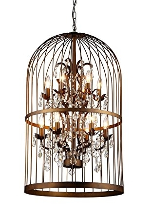 Preferred Cage Chandeliers Intended For Whse Of Tiffany Rl8058B Rinee Cage Chandelier – – Amazon (View 9 of 10)