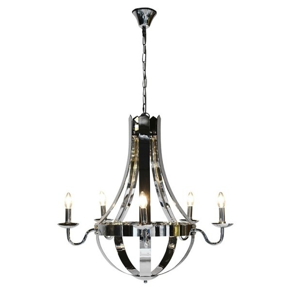 Preferred Chandeliers : Glass, Crystal, Contemporary Traditional Chandeliers Intended For Modern Chrome Chandeliers (View 9 of 10)