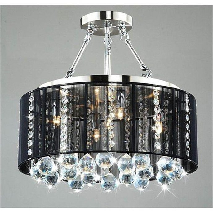 Preferred Chandeliers : Pictures Of Chandelier With Shades And Crystals Photos For Crystal Chandeliers With Shades (View 8 of 10)