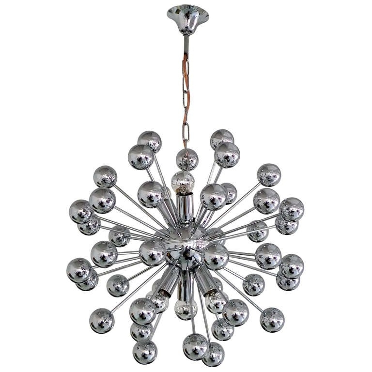 Preferred Chrome Sputnik Chandeliers For 1970's Chrome Sputnik Chandelier For Sale At 1Stdibs (View 8 of 10)