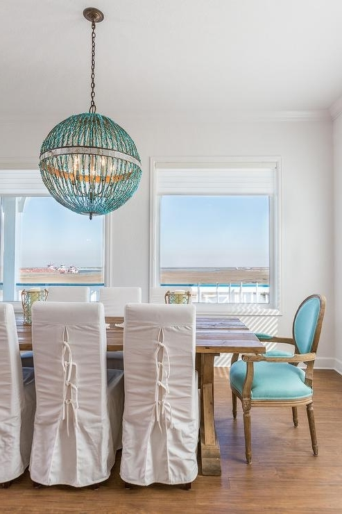 Featured Photo of Turquoise Orb Chandeliers