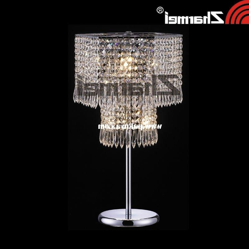 Preferred Faux Crystal Chandelier Table Lamps For Chandelier Desk Lamps Picture Yvotube Intended For Modern Home (View 9 of 10)