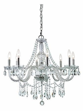 Preferred Globe Crystal Chandelier Pertaining To Trans Globe Lighting Hu 8 Sl Eight Light Crystal Chandelier (View 8 of 10)