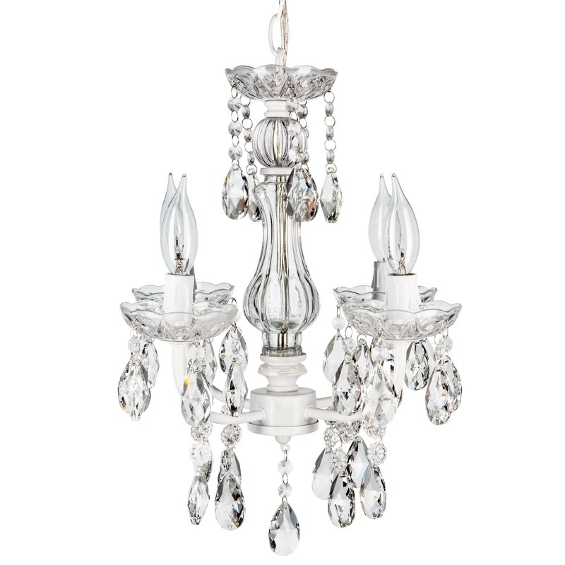 Featured Photo of 4 Light Crystal Chandeliers