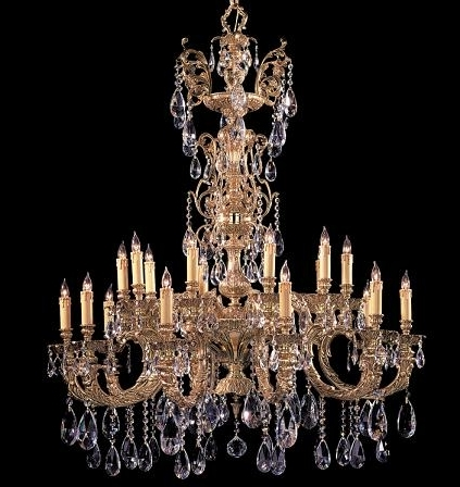Preferred Large Crystal Chandeliers For Big, Luxurious Spaces Are Introduced Within Ornate Chandeliers (View 2 of 10)