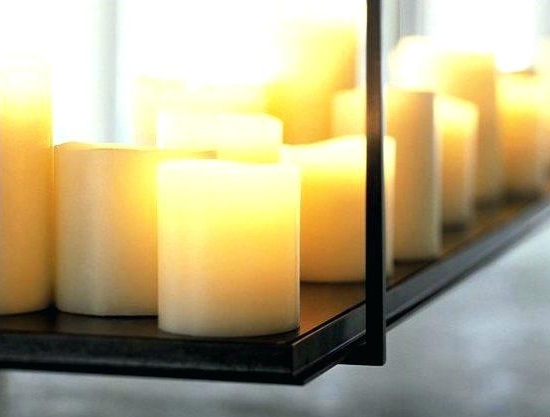 Preferred Led Candle Chandeliers For Flameless Candle Chandeliers – Stephenphilms (View 4 of 10)