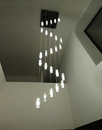 Preferred Stairwell Chandelier Lighting Pertaining To Poersi Spiral Chandelier Staircase Lighting Spiral Crystal (View 5 of 10)