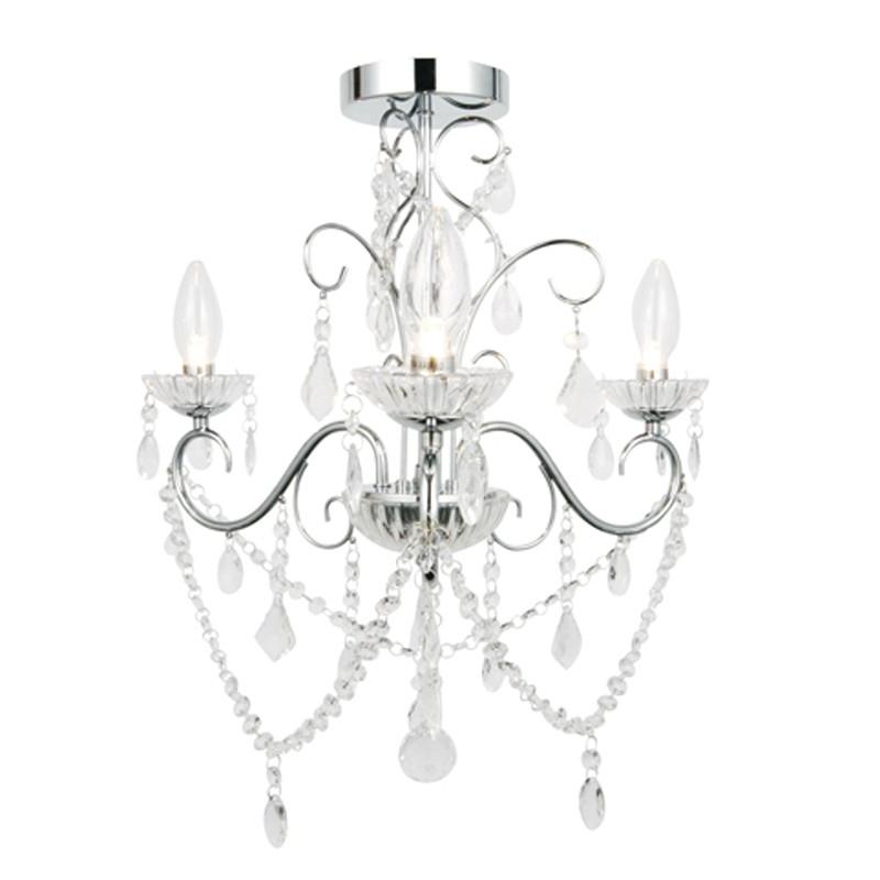 Preferred Vela 3 Light Semi Flush – Lighting Direct Intended For Chandelier Bathroom Ceiling Lights (View 2 of 10)