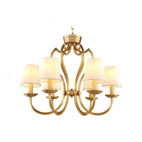 Preferred Vintage Chandelier For New Classical Vintage Qulity Brass Copper Chandelier With Linen (View 6 of 10)