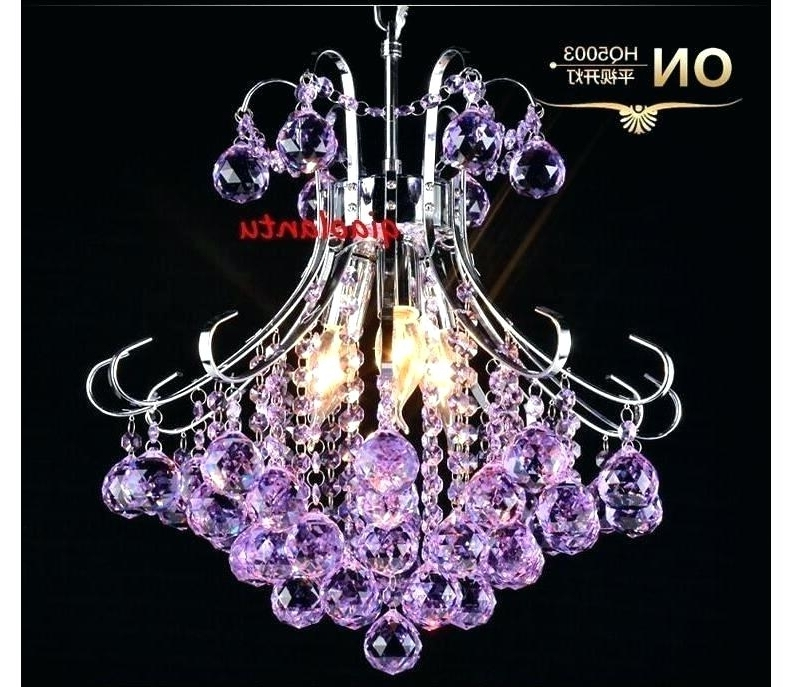 Purple Crystal Chandelier Lights Intended For Most Up To Date Purple Crystal Chandelier Lighting Purple Crystal Chandelier (View 4 of 10)