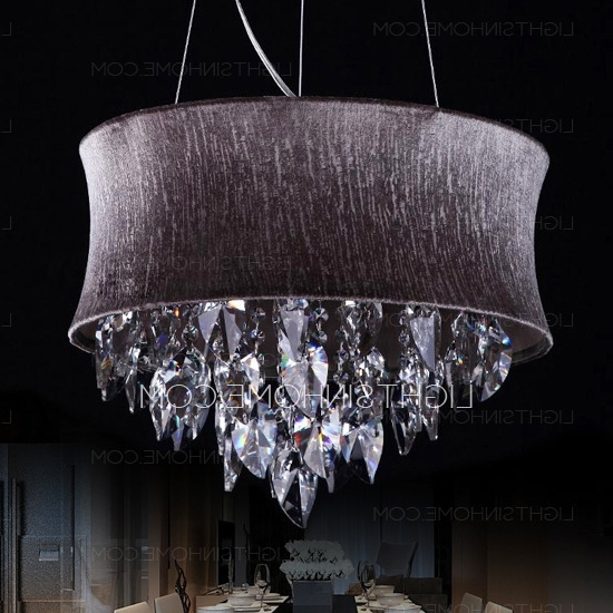 Purple Crystal Chandeliers With Most Up To Date Simple 5 Light Hardware Drum Shaped Purple Crystal Chandelier (View 8 of 10)