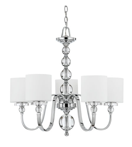 Quoizel Dw5005C Downtown 5 Light 28 Inch Polished Chrome Chandelier Pertaining To Recent Chandelier Chrome (View 9 of 10)
