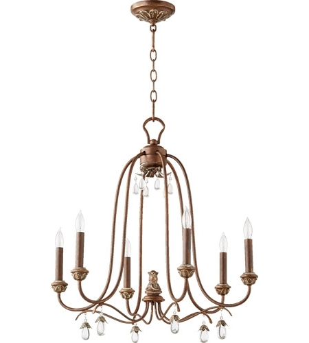 Quorum 6144 6 39 Venice 6 Light 25 Inch Vintage Copper Chandelier Throughout Widely Used Copper Chandelier (View 2 of 10)