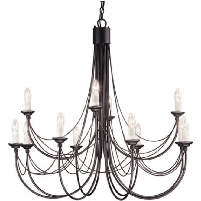 Recent Black Gothic Chandelier In Medieval Gothic Chandelier In Black Finish With 12 Candle Style Lights (View 10 of 10)
