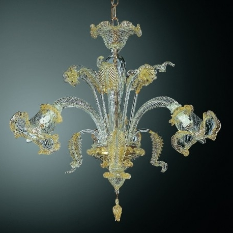"Recent Canal Grande"" Small Murano Glass Chandelier – Murano Glass Chandeliers Throughout Small Glass Chandeliers (View 3 of 10)"