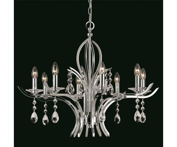 Recent Chrome And Crystal Chandeliers Regarding Electrical Store (View 6 of 10)