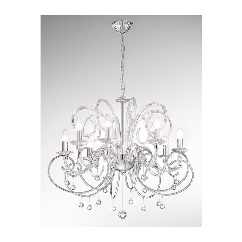 Recent Chrome Crystal Chandelier Throughout Kolarz Foscari Crystal Chandelier Chrome 0355 88 5 Spt Free Delivery (View 9 of 10)