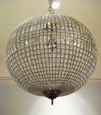 Recent Crystal Globe Chandelier – Decorative Lighting And Furniture – Tyson Ltd Within Crystal Globe Chandelier (View 5 of 10)