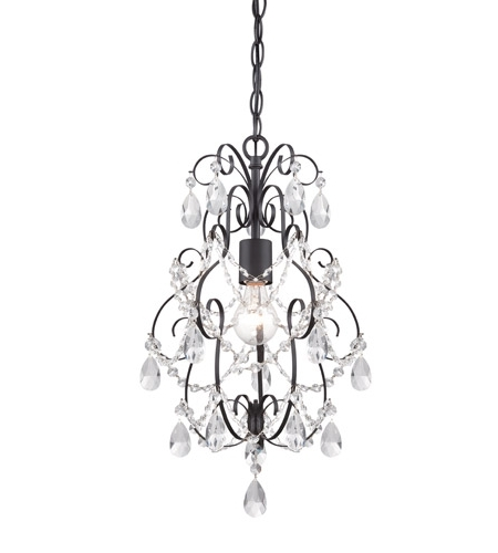 Recent Designers Fountain 6204 Orb Flora 1 Light 14 Inch Oil Rubbed Bronze Regarding Small Bronze Chandelier (View 6 of 10)