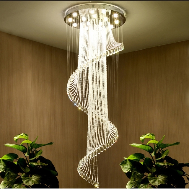 Recent Hotel Hall Stair Chandelier Led Crystal Chandelier Lighting Living With Regard To Chandelier Lights For Living Room (View 8 of 10)