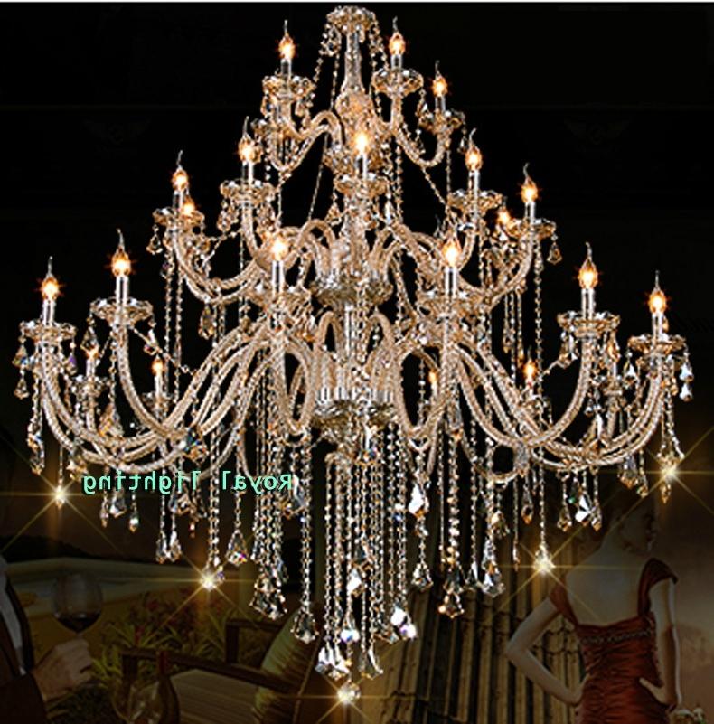 Recent Huge Crystal Chandelier Inside 30 Arms Luxury Chandelier Villa Hotel Large Crystal Chandelier D (View 8 of 10)