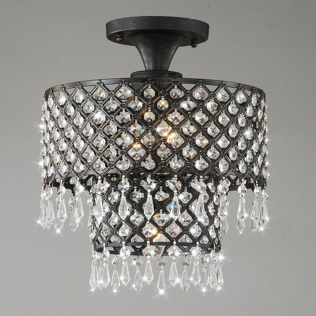 Recent Nerisa Chrome Crystal Flush Mount Chandelier Free Shipping Today With Regard To Wall Mount Crystal Chandeliers (View 6 of 10)