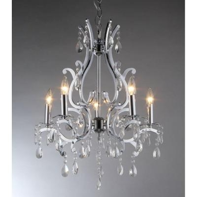 Recent Small Chrome Chandelier Throughout Zspmed Of Chrome Chandelier Nice With Additional Small Home (View 5 of 10)