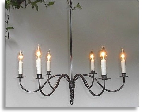 Recent Wrought Iron Chandeliers In Wrought Iron Chandelier (View 9 of 10)