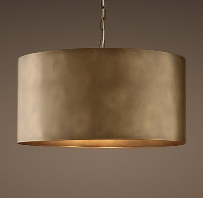 Restoration Hardware In Metal Drum Chandeliers (View 2 of 10)