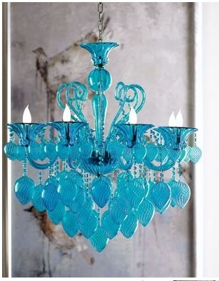 Retro Glamour Chandelier I'd Love This In Red! (Gallery 2 of 10)