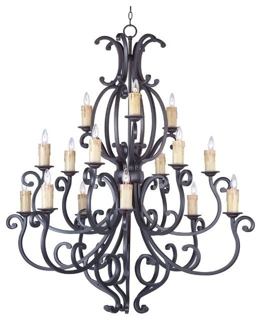 Richmond Colonial Umber Oil Rubbed Bronze Large Foyer Chandelier To Pertaining To Best And Newest Large Bronze Chandelier (View 8 of 10)