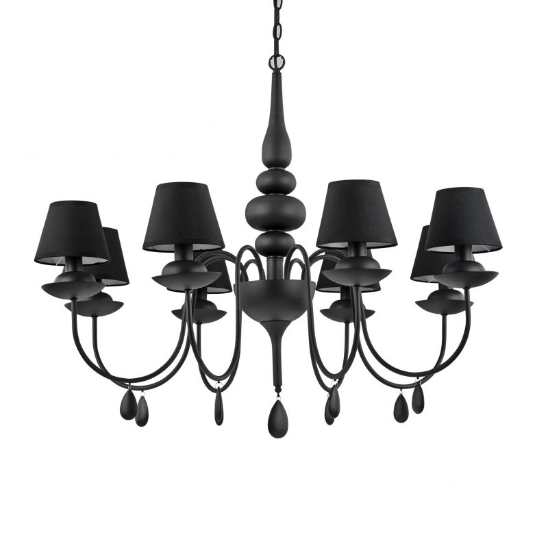 Rs Robertson Intended For Most Current Black Chandeliers With Shades (View 2 of 10)