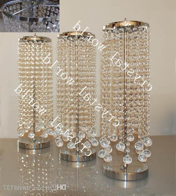 Salebulk Elegant Crystal Table Top Chandelier Centerpieces For With Newest Crystal Table Chandeliers (View 5 of 10)